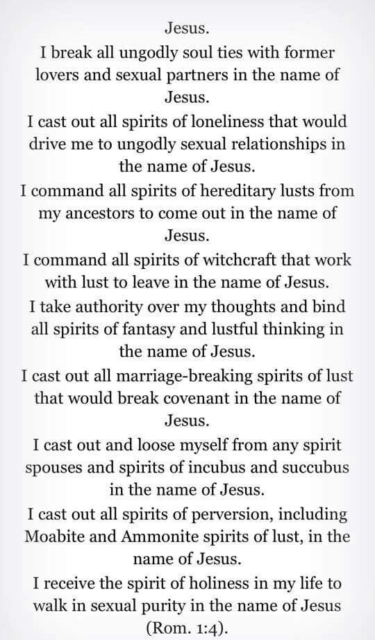 soul tie prayers